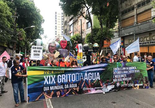 XIX Grito da Água: Multidão aproveita Dia Mundial da Água e protesta contra privatização e agressões ao meio ambiente