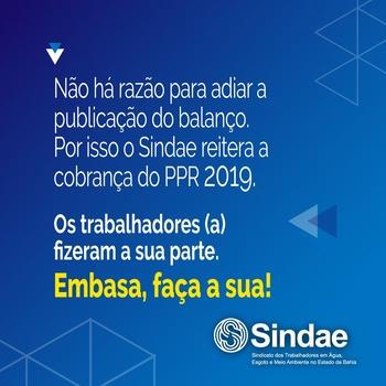 Direção da Embasa desrespeita categoria ao não responder proposta sobre o PPR 2019