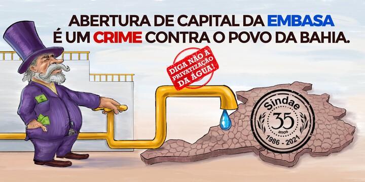 PRIVATIZAR É CRIME