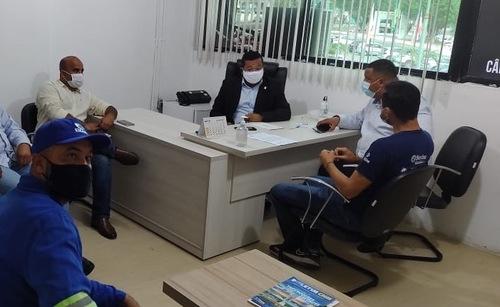 Itabuna: Em reunião com Presidente da Câmara Municipal e Vereadores, trabalhadores da EMASA cobram vacinação