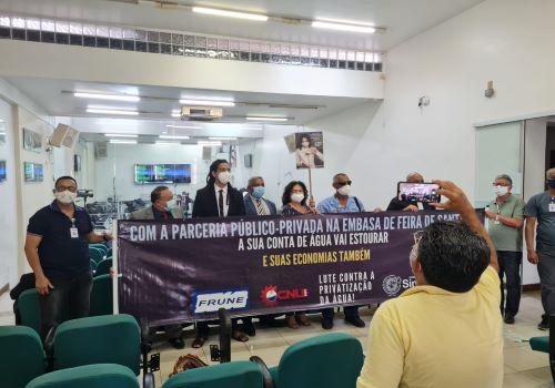 PPP em Feira de Santana poderá levar a população pobre à miséria, alerta sindicato em sessão na Câmara de Vereadores.